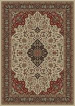 Concord Global Trading Persian Classics 2082 Medallion Kashan Ivory Area Rug