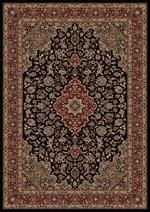Concord Global Trading Persian Classics 2083 Medallion Kashan Black Area Rug