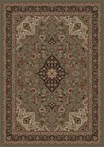 Concord Global Trading Persian Classics 2085 Medallion Kashan Green Area Rug