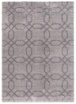 Concord Global Trading Plush 3526 Geo Gray Area Rug