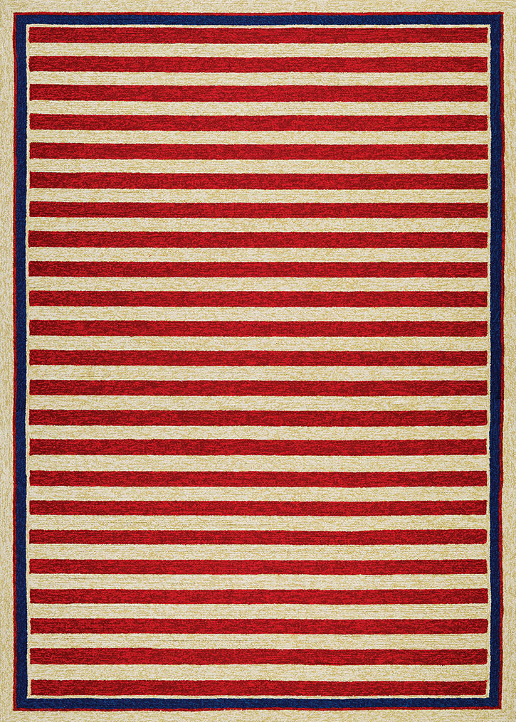 Covington 3126 0260 nautical stripes red navy area rug for Red and navy rug