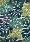 Couristan Covington 3534/1521 Monstera Cream/Multi Area Rug