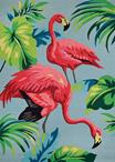 Couristan Covington 6177/0220 Flamingos Multi Area Rug