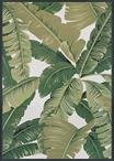Couristan Dolce 7506/0004 Palm Lily Hunter Green/Ivory Area Rug
