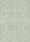 Couristan Monaco 2106/3136 Summer Quay Ivory/Lt. Green Area Rug