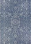 Couristan Monte Carlo 2329/6427 Palmette Navy/Ivory Area Rug