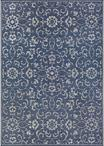 Couristan Monte Carlo 2331/6427 Summer Vines Navy/Ivory Area Rug
