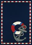 Couristan Outdoor Escape 4290/8160 Anchors Away Navy Area Rug