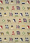 Couristan Outdoor Escape 6852/6486 Nautical Flags Sand Area Rug