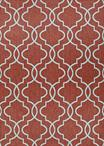 Couristan Outdurable R202/CRDN Cliff Walk Coral & Dune Area Rug