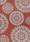 Couristan Outdurable R209/CRDN Flower Festival Coral & Dune Area Rug
