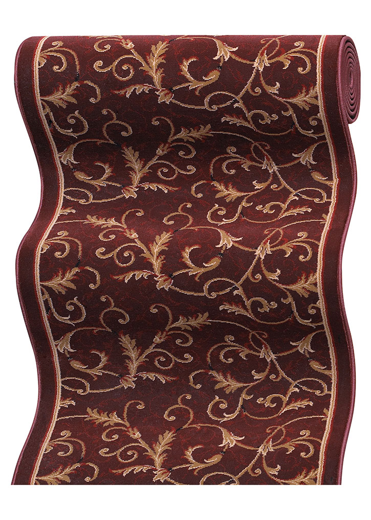 Couristan Everest 3318 B873a Royal Scroll Mahogany 2 7