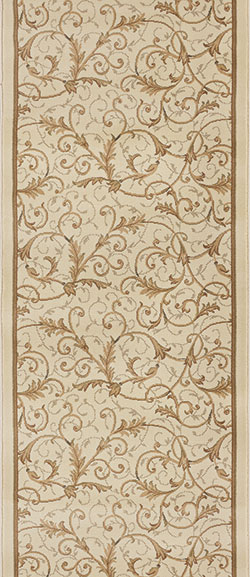 Couristan Everest 3318-B832A Royal Scroll Antique Linen 2'7