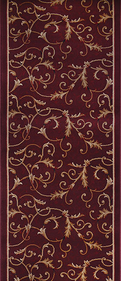 Couristan Everest 3318-4873A Royal Scroll Mahogany 2'2
