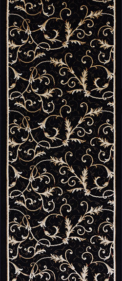 Couristan Everest 3318-4880A Royal Scroll Ebony 2'2