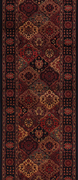Couristan Everest 3721-4876A Antique Baktiari Midnight 2'2