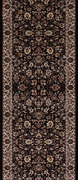 Couristan Everest 3791-6025A Isfahan Black 2'2