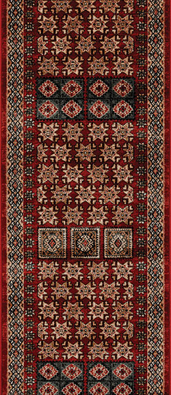 Couristan Timeless Treasures 4307-0300A Royal Kazak Burgundy 2'2