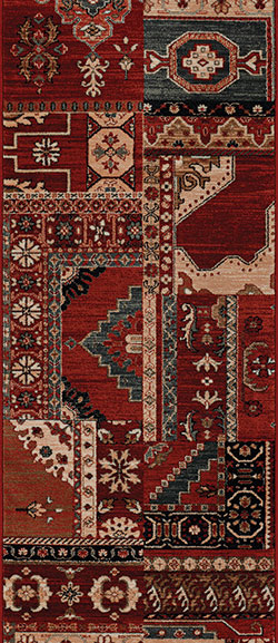 Couristan Timeless Treasures 4323-0300A Kerman Mosaic Burgundy Rust 2'2