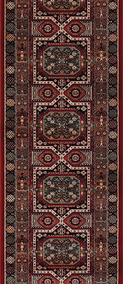 Couristan Timeless Treasures 4324-0300A Maharaja Burgundy 2'2