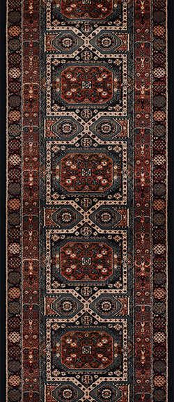 Couristan Timeless Treasures 4324-0500A Maharaja Ebony 2'2
