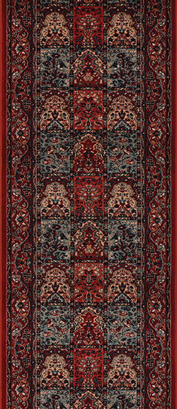 Couristan Timeless Treasures 4325-0300A Vintage Baktiari Burgundy 2'2