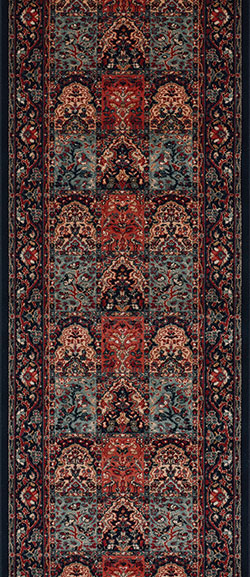 Couristan Timeless Treasures 4325-0500A Vintage Baktiari Ebony 2'2