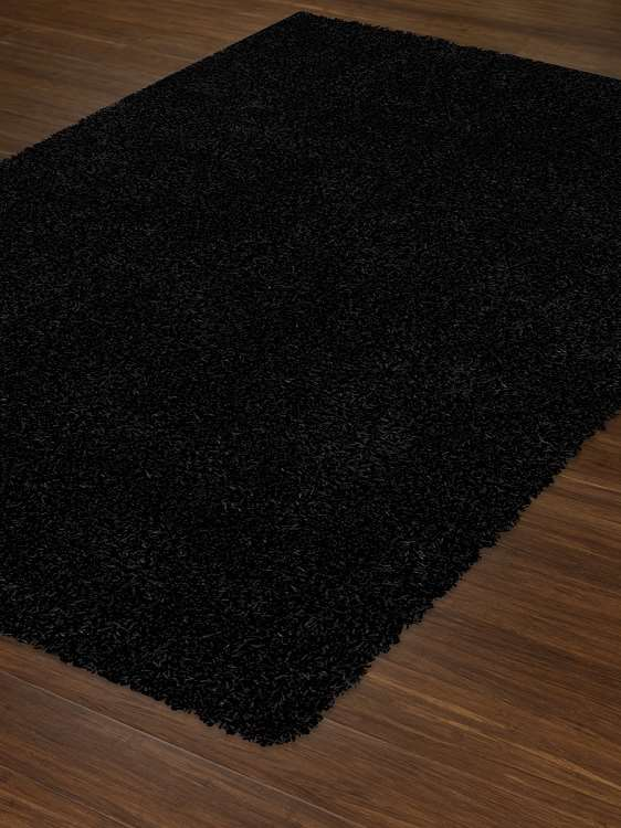 Dalyn Illusions Il69 Black Area Rug Shag Area Rugs