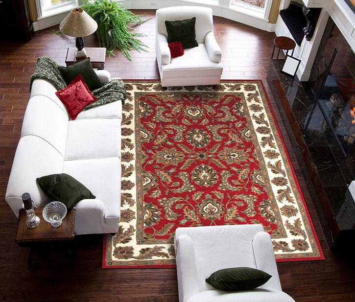 Mohawk Home Traditional Jewel Rug: Dalyn Jewel JW10 Red Area Rug