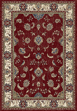 Dynamic Rugs Ancient Garden 57158-1464 Red/Ivory Area Rug