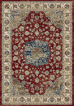 Dynamic Rugs Ancient Garden 57559-1464 Red/Ivory Area Rug