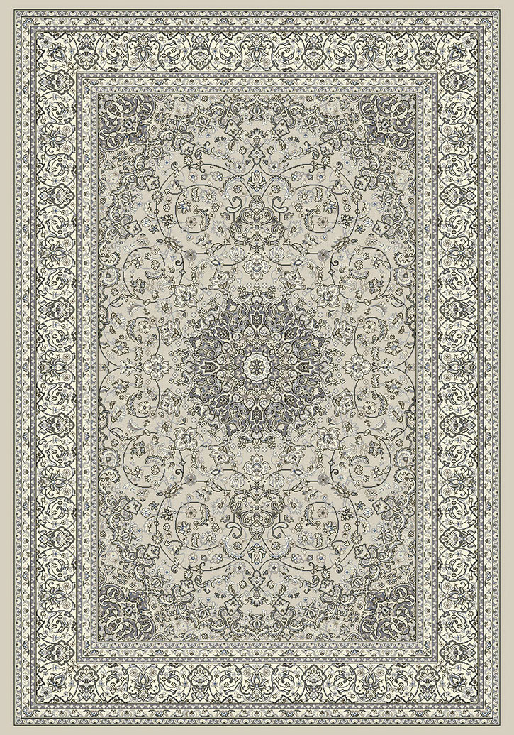 Ancient Garden 57119 9666 Soft Grey Cream Area Rug By