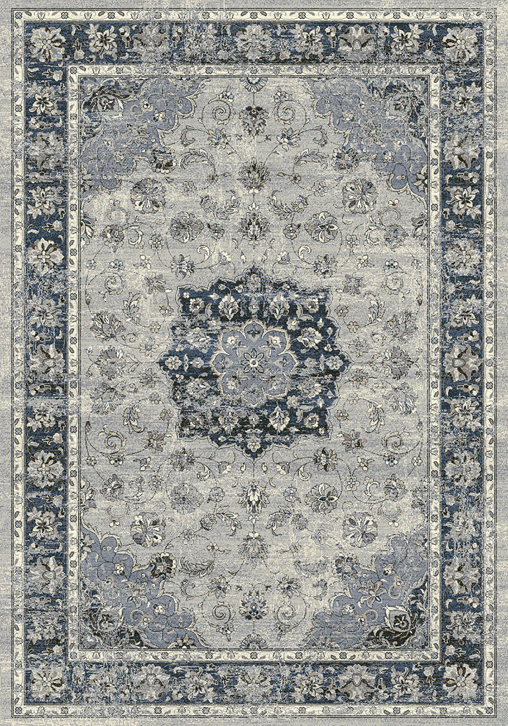 Ancient Garden 57559 9686 Silver Blue Area Rug By Dynamic Rugs