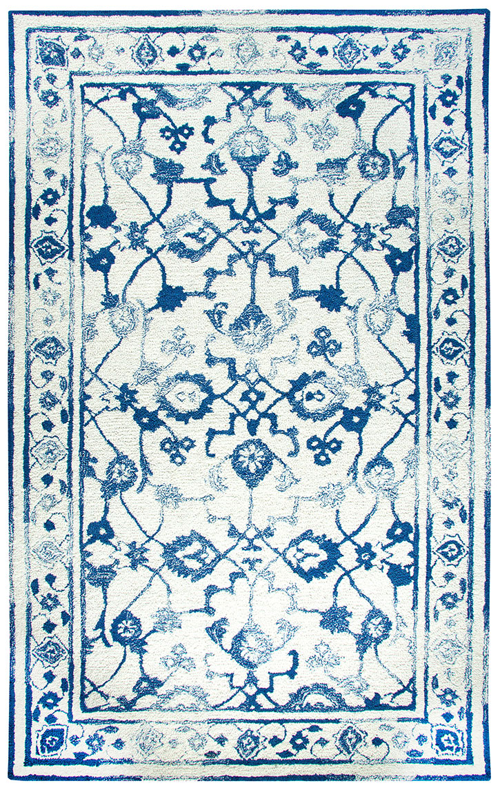 Dynamic Rugs Avalon 88802-189 Ivory Dk Blue Area Rug