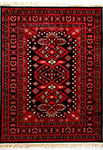Dynamic Rugs Crown 16223-090 Red Black Area Rug