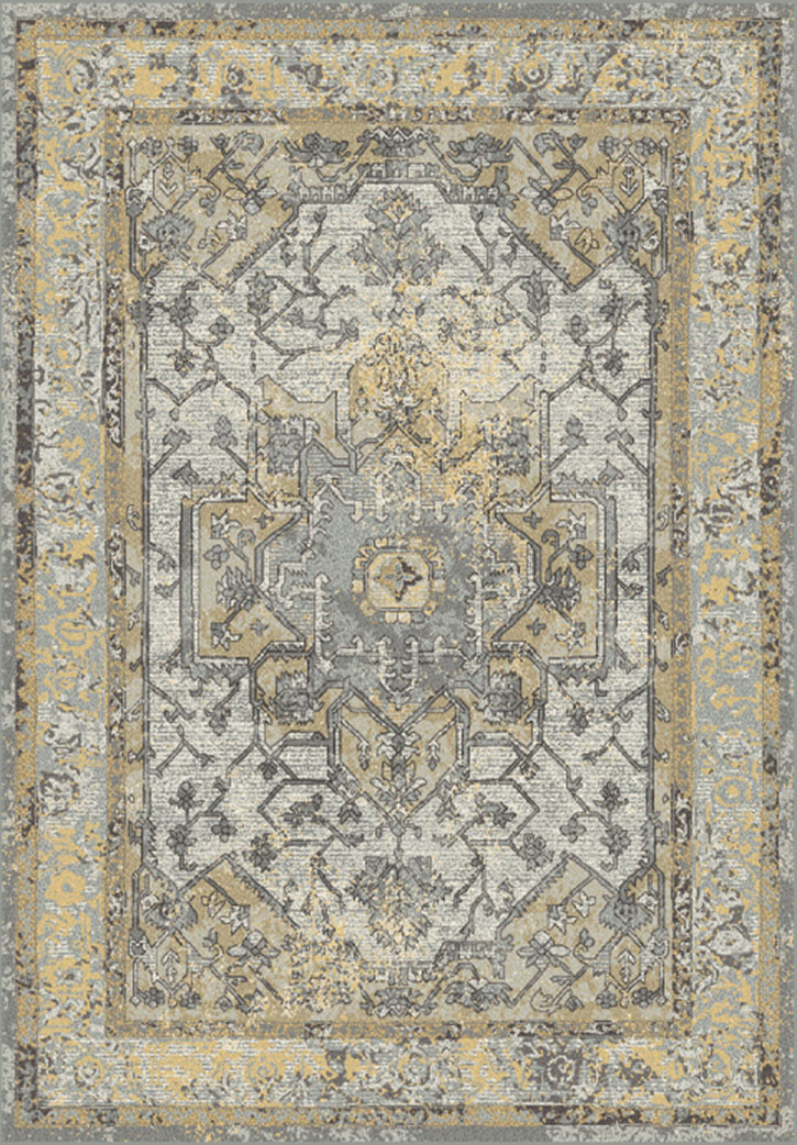 Dynamic Rugs Horizon 988465 5220 Grey Gold Area Rug
