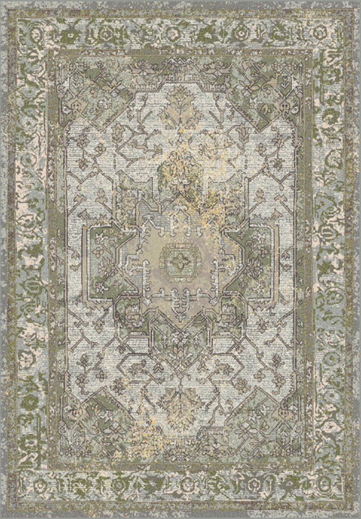 Dynamic Rugs Horizon 988465 5240 Grey Green Area Rug