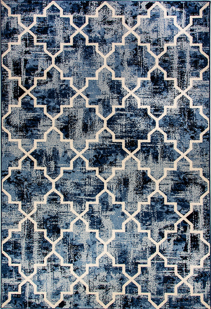 Dynamic Rugs Infinity 32042-5267 Blue Area Rug