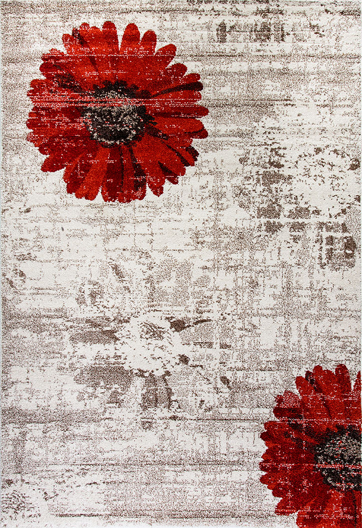 Dynamic Rug Infinity 35009 1250 Ivory Red Area Rug