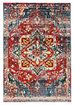 Dynamic Rugs Mod 29013-997 Fuschia Blue Area Rug