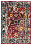 Dynamic Rugs Mod 29015-997 Fuschia Blue Area Rug