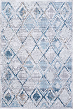 Dynamic Rugs Mosaic 1666-115 Cream/Grey/Blue Area Rug