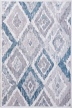 Dynamic Rugs Mosaic 1669-115 Cream/Grey/Blue Area Rug