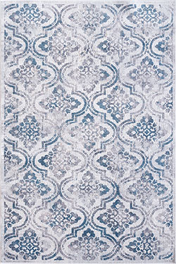 Dynamic Rugs Mosaic 1672-115 Cream/Grey/Blue Area Rug