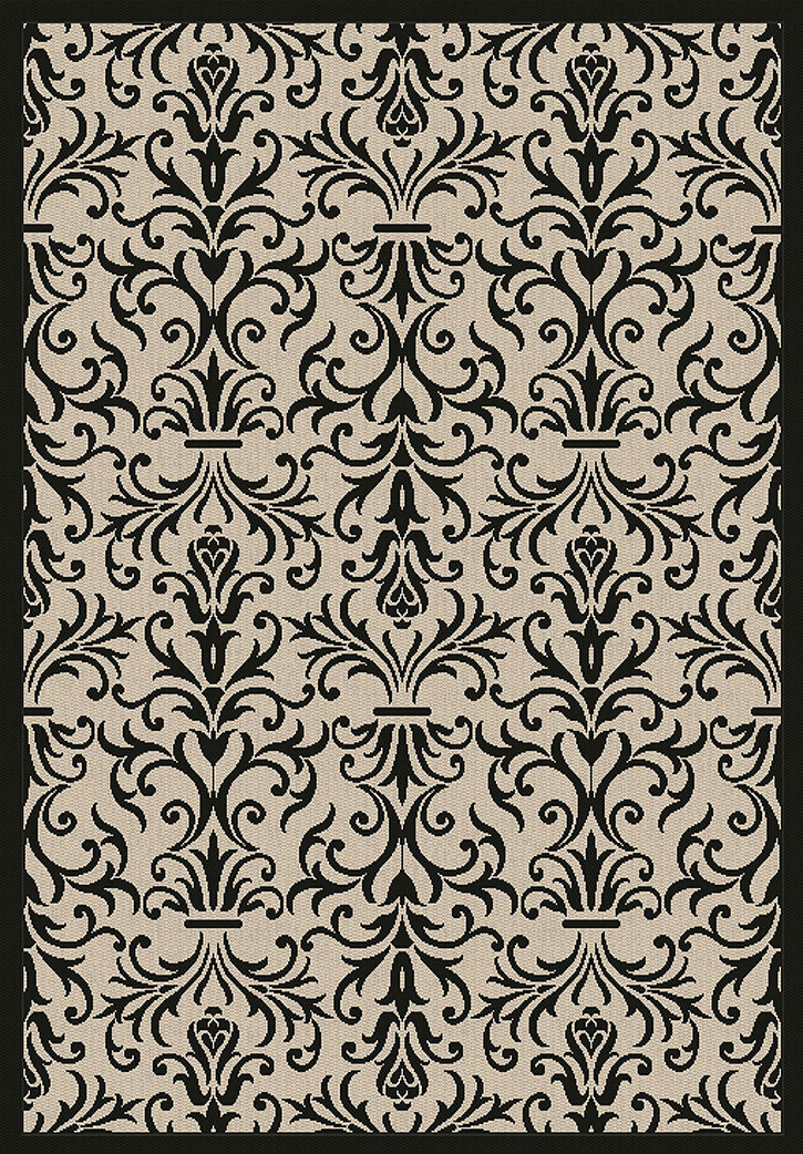 Dynamic Rugs Piazza 2742-3901 Sand/Black Area Rug