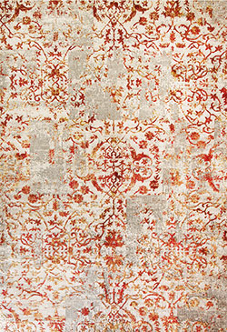 Dynamic Rugs Quartz 25010-130 Ivory Red Area Rug