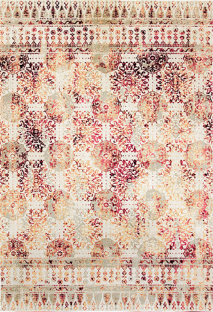 Dynamic Rugs Quartz 26110-130 Ivory Red Area Rug