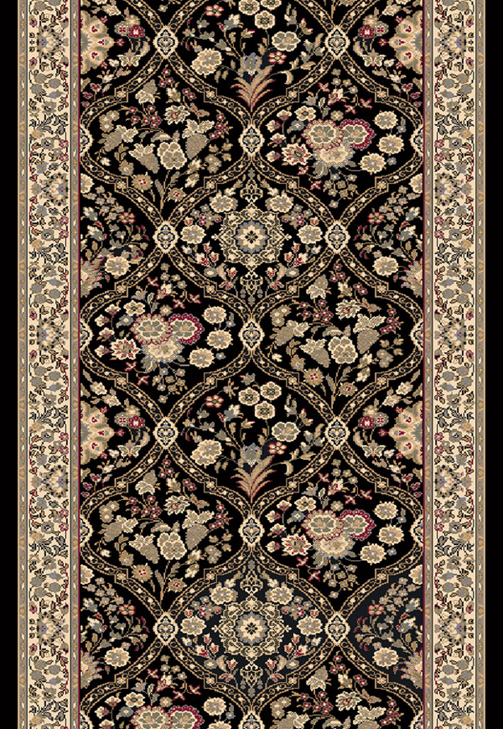 Brilliant 7211 090 Black 2 2 Quot Wide Runner By Dynamic Rugs