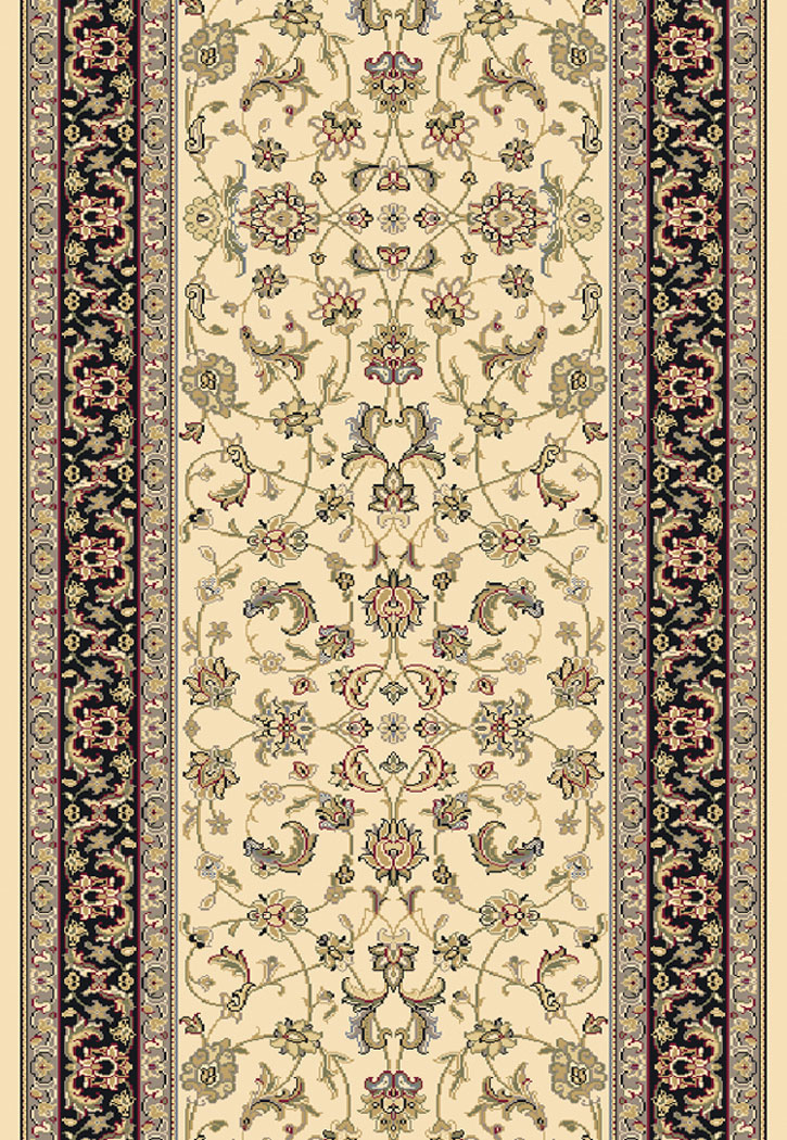 Brilliant 72284 191 Ivory 2 2 Quot Wide Runner By Dynamic Rugs
