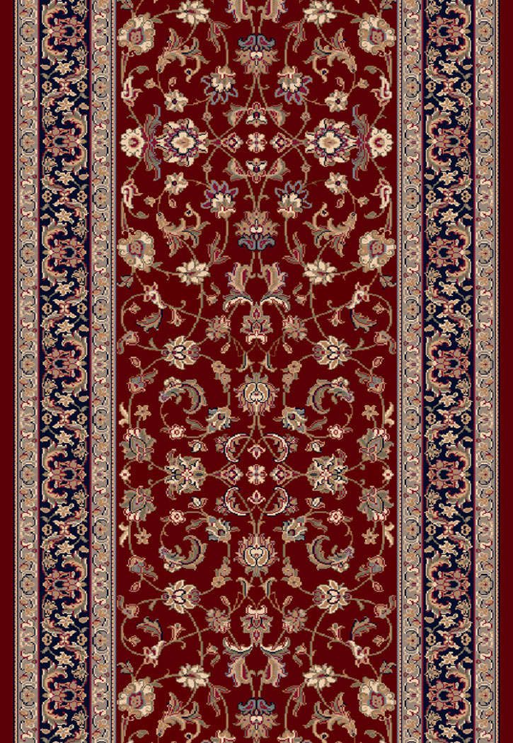 Brilliant 72284 331 Red 2 2 Quot Wide Runner By Dynamic Rugs